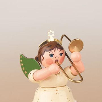 Engel mit Posaune 6,5 cm